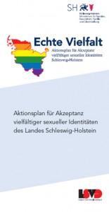 """Zum Herunterladen: Flyer zum """"Aktionsplan für Akzeptanz vielfältiger sexueller Identitäten des Landes Schleswig-Holstein"""""""