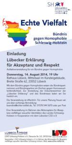 Einladung zum Auftakt des Bündnisses gegen Homophobie / Lübecker Erklärung für Akzeptanz und Respekt