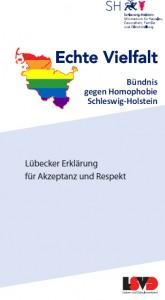 Flyer Bündnis gegen Homophobie - Lübecker Erklärung