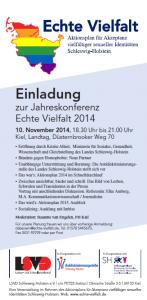 Jahreskonferenz Echte Vielfalt - Einladung