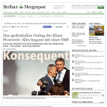 070919_Das spektakuläre Outing des Klaus Wowereit  Alles begann mit einer SMS - Printarchiv - Berlin - Berliner Morgenpos